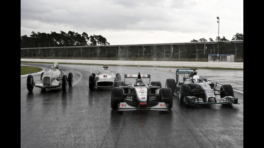 Hülkenberg, Wehrlein, Rosberg & Danner - Mercedes Track Day - Hockenheim - 28. Juni 2016