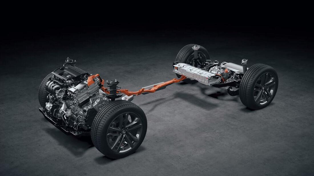 Hybrid-Plattform des Lexus NX, 2021