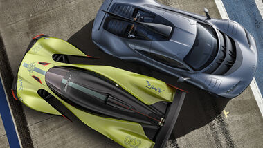 Hype Hypercars Aston Martin Valkyrie AMG Project One Collage