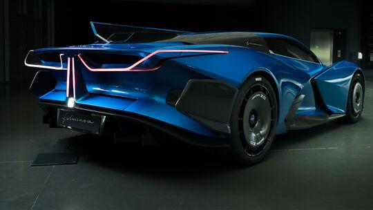 Hypercar Estrema Fulminea Italien Feststoffakku Superkondensator