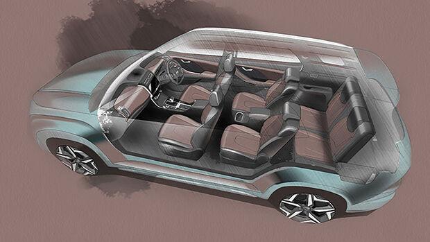 Hyundai Alcazar Teaser Indien