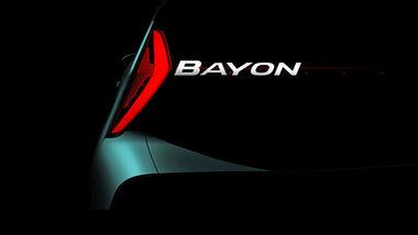 Hyundai Bayon Teaser Schriftzug