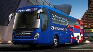 Hyundai Fußball WM Busse 2018 Weltmeisterschaft