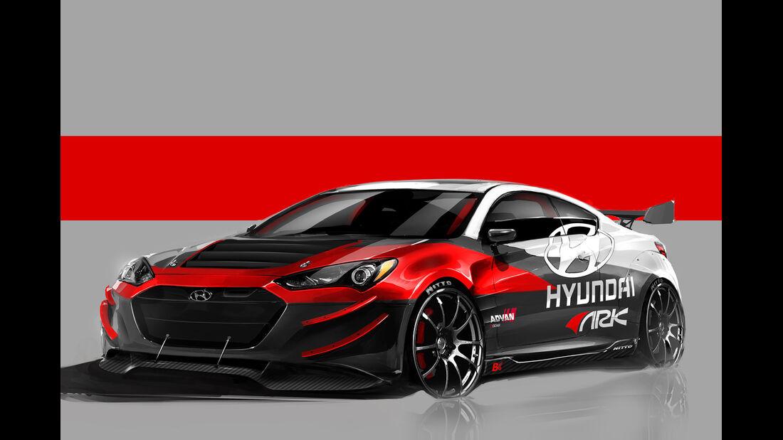Hyundai Geneses Coupé Rennwagen Studie Sema 2012