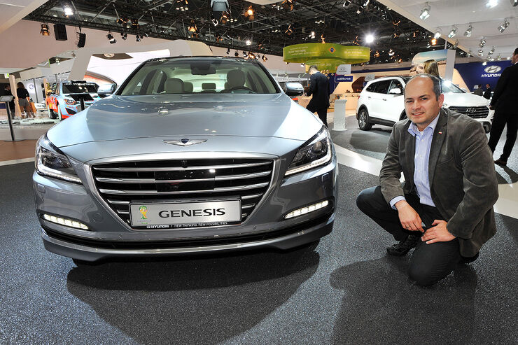 Hyundai Genesis Sitzprobe AMI 2014