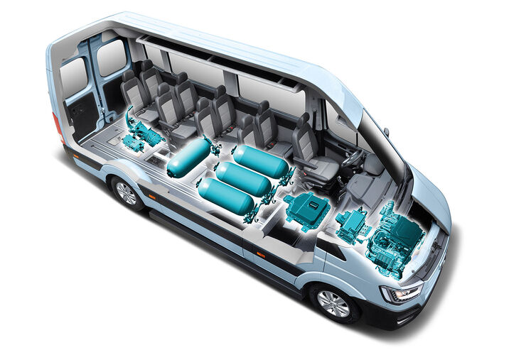 hyundai h350 fuel cell concept wasserstoff bus auf der iaa auto motor und sport. Black Bedroom Furniture Sets. Home Design Ideas