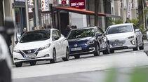 Hyundai Ioniq Elektro, Nissan Leaf, VW e-Golf, Exterieur