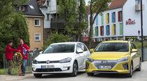 Hyundai Ioniq, VW e-Golf