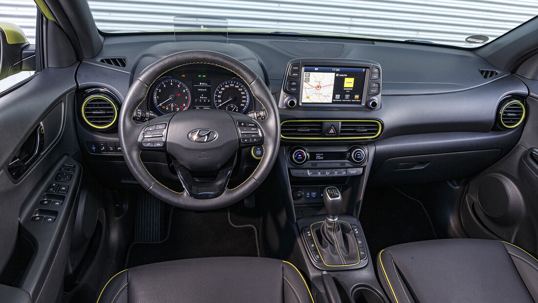 Hyundai Kona 1.0 T-GDI, Interieur
