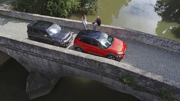 Hyundai Kona 1.0 T-GDI, Jeep Renegade 1.0 T-GDI, Exterieur