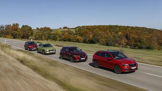 Hyundai Kona 1.0 T-GDI, Mazda CX-3 G 121, Opel Crossland X 1.2 DI, Skoda Kamiq 1.0 TSI, Exterieur