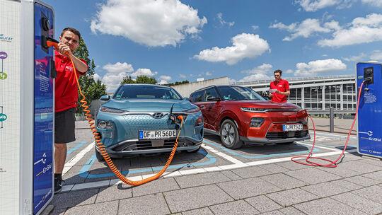 Hyundai Kona Elektro, Kia e-Soul,  Exterieur