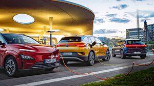 Hyundai Kona Elektro, Mercedes EQA, VW ID.4