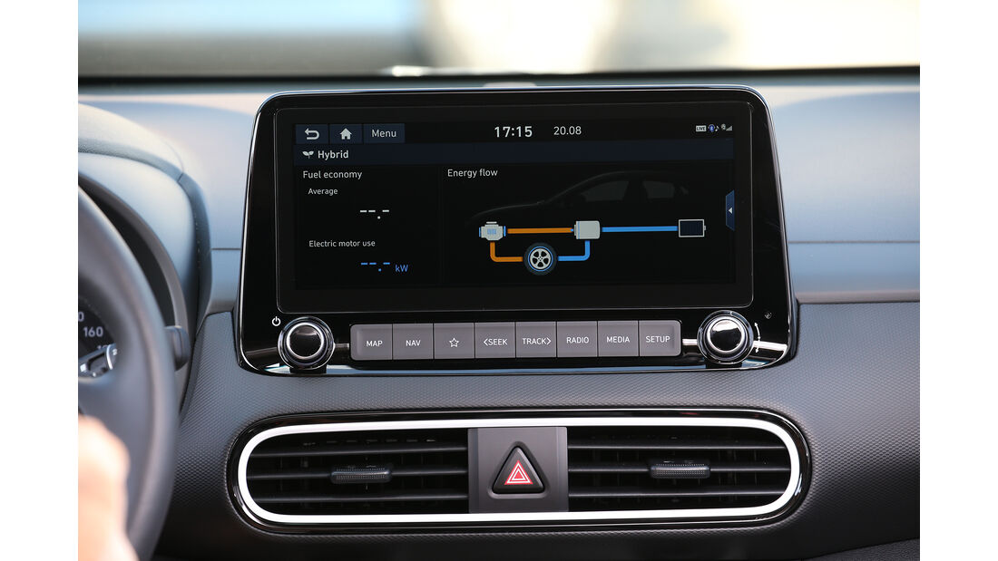 Hyundai Kona Hybrid, Interieur