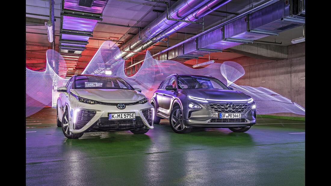 Hyundai Nexo, Toyota Mirai, Exterieur