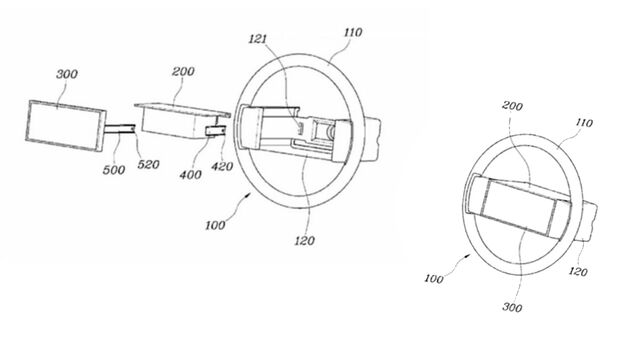 Hyundai Patent Lenkrad Display