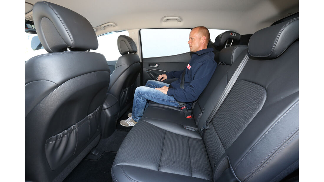 Hyundai Santa Fe 2.0 CRDi 2WD, Fondsitz, Beinfreiheit