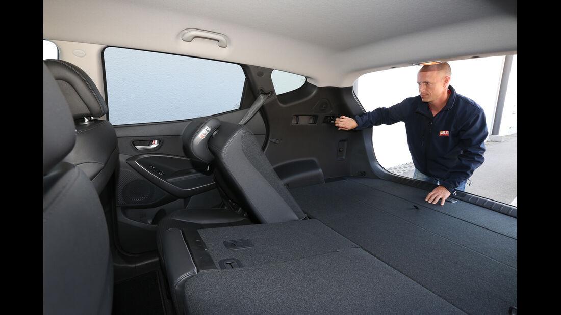 Hyundai Santa Fe 2.0 CRDi 2WD, Fondsitz, Umklappen