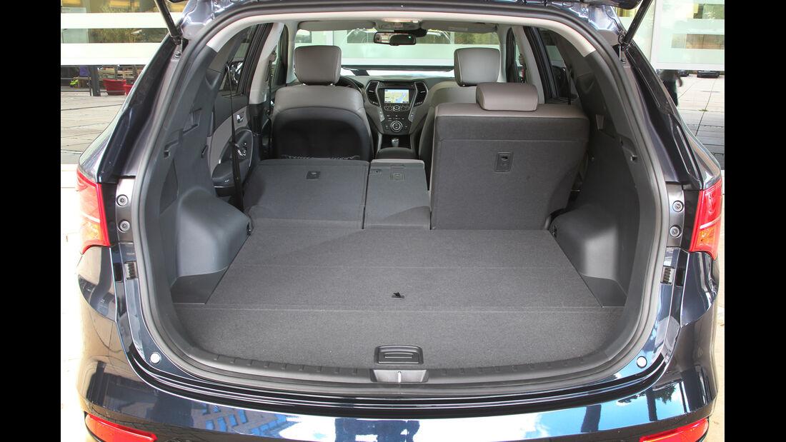 Hyundai Santa Fe 2.0 CRDi, Ladefläche, Kofferrraum