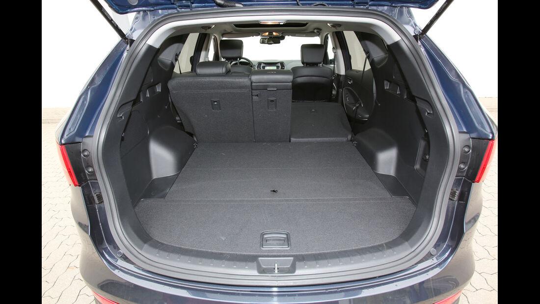 Hyundai Santa Fe 2.2 CR Di 4WD, Kofferraum, Ladefläche