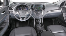 Hyundai Santa Fe 2.2 CRDi 4WD, Cockpit, Lenkrad