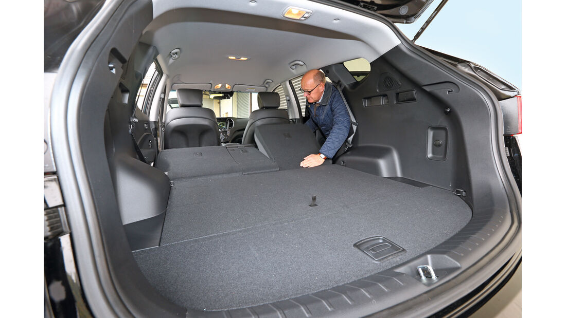 Hyundai Santa Fe 2.2 CRDi 4WD, Kofferraum, Ladefläche