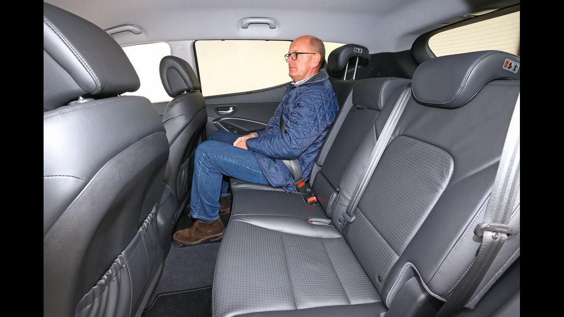 Hyundai Santa Fe 2.2 CRDi 4WD, Rücksitz, Beinfreiheit