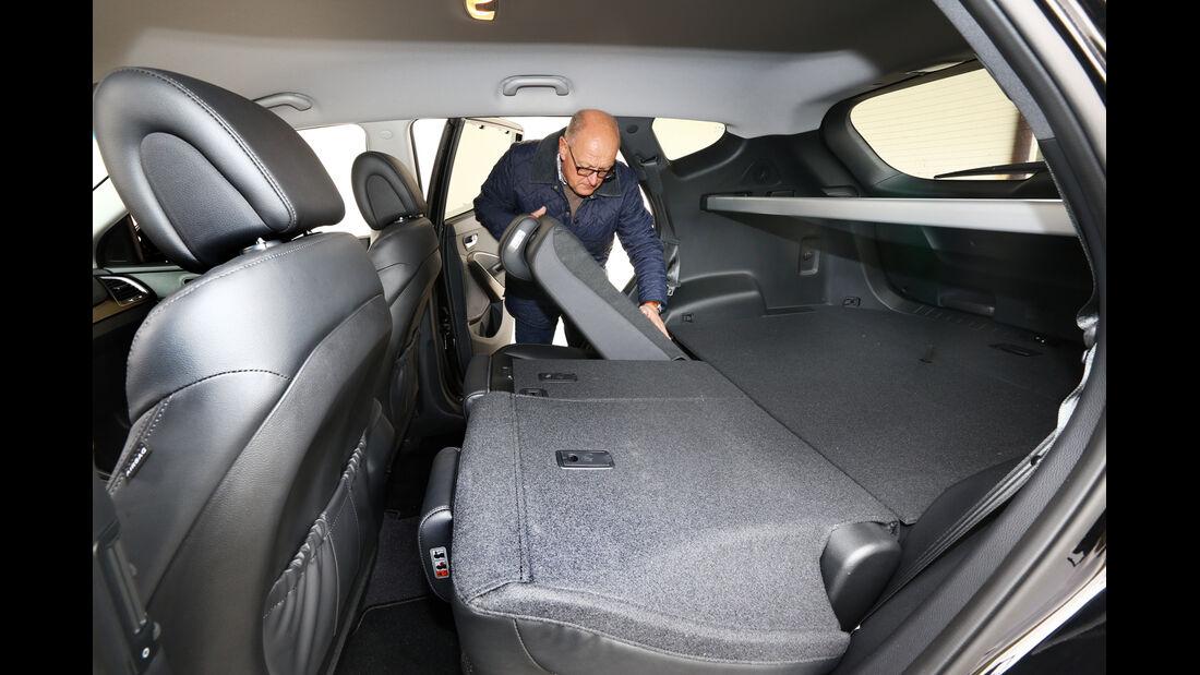 Hyundai Santa Fe 2.2 CRDi 4WD, Rücksitz, Umklappen
