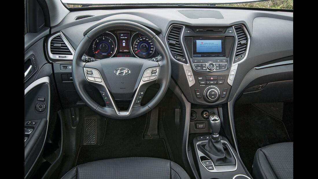 Hyundai Santa Fe, Cockpit, Lenkrad