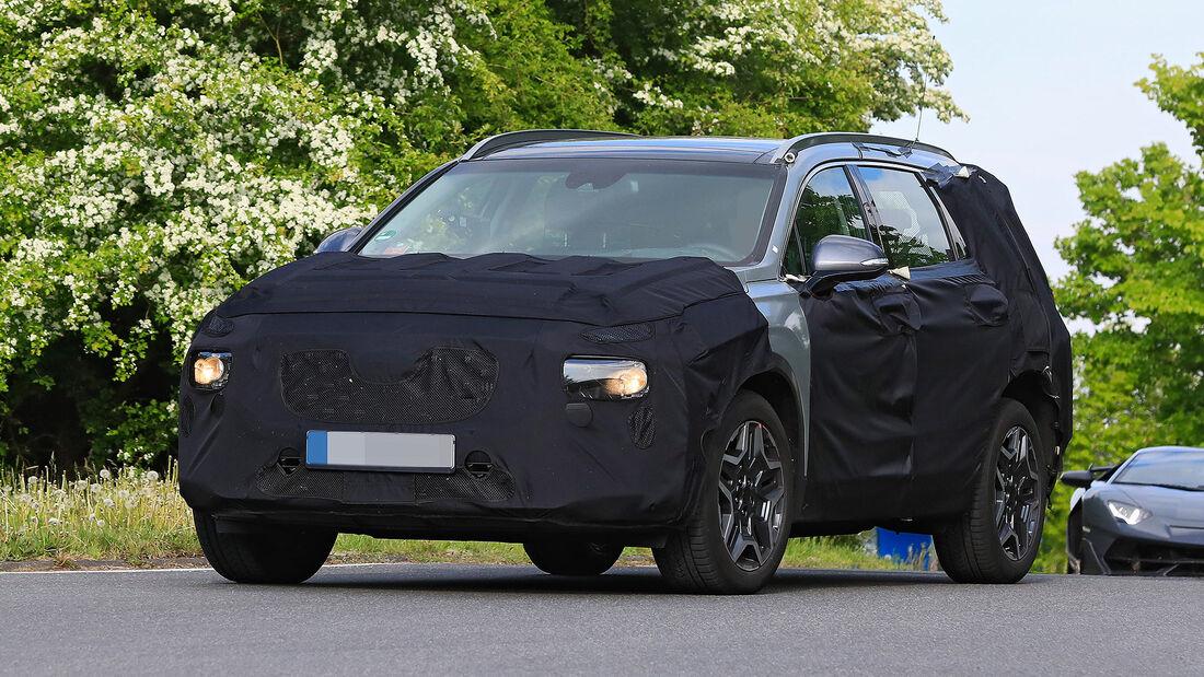 Hyundai Santa Fe Facelift Erlkönig