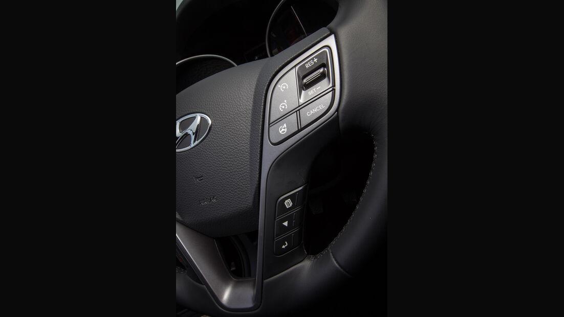 Hyundai Santa Fe, Lenkradtasten, Bedienelemente