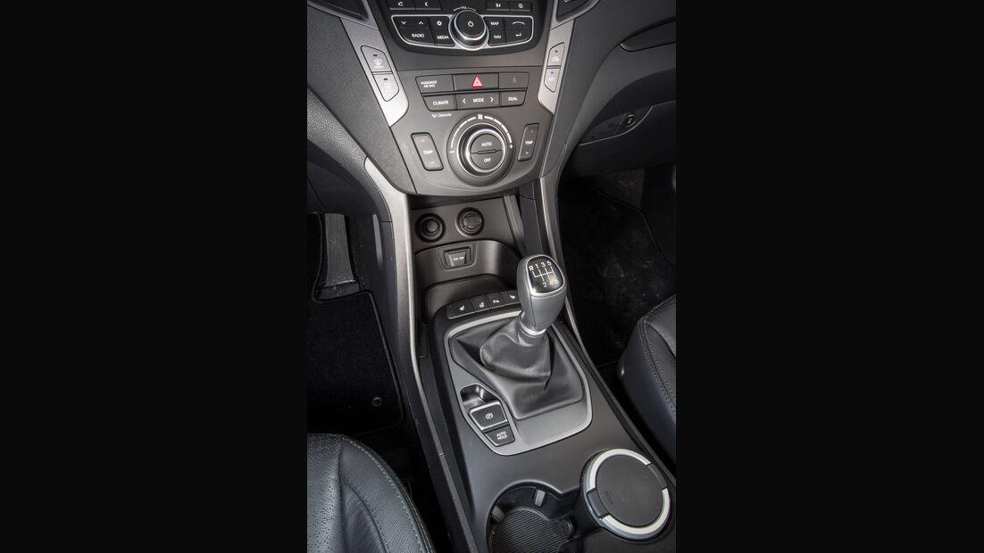 Hyundai Santa Fe, Mittelkonsole, Schalthebel