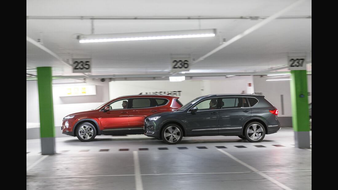 Hyundai Santa Fe, Seat Tarraco, Exterieur