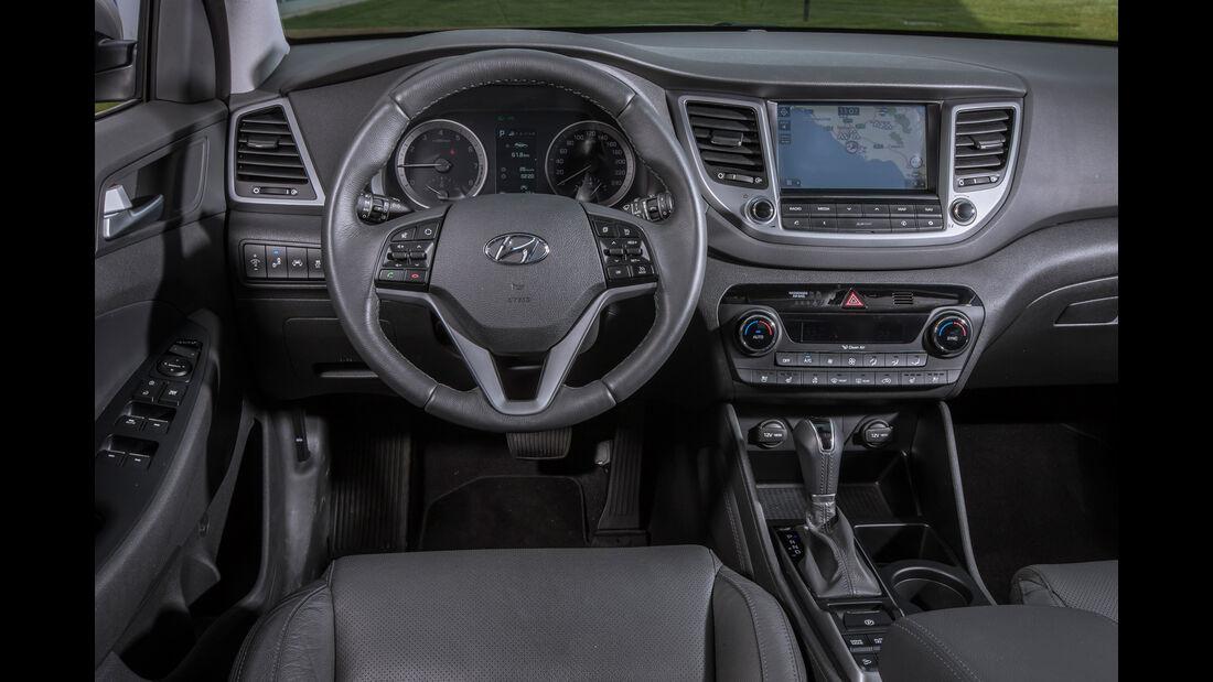 Hyundai Tucson 1.6 Turbo 4WD, Cockpit