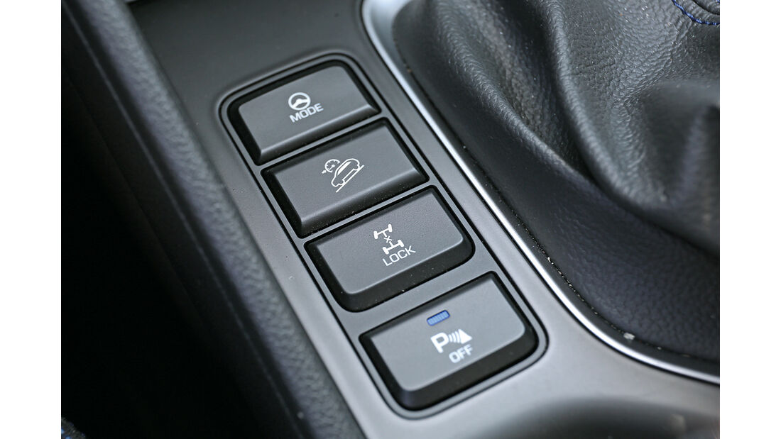 Hyundai Tucson 2.0 CRDi 4WD, Bedienelemente