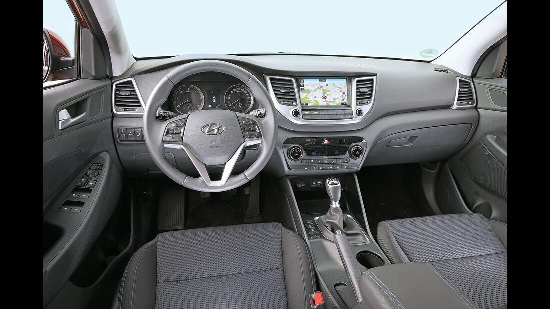 Hyundai Tucson 2.0 CRDi 4WD, Cockpit