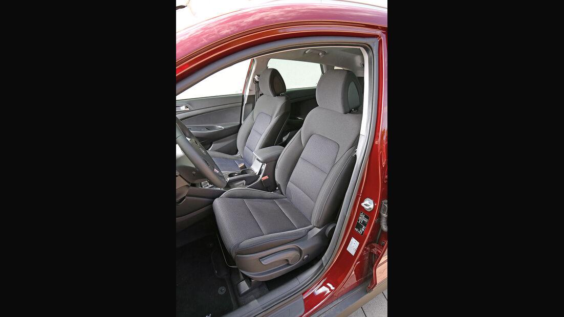 Hyundai Tucson 2.0 CRDi 4WD, Fahrersitz