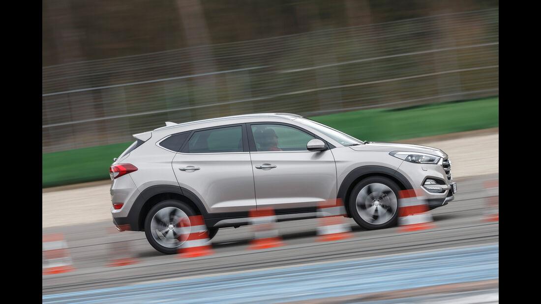 Hyundai Tucson 2.0 CRDi 4WD, Seitenansicht