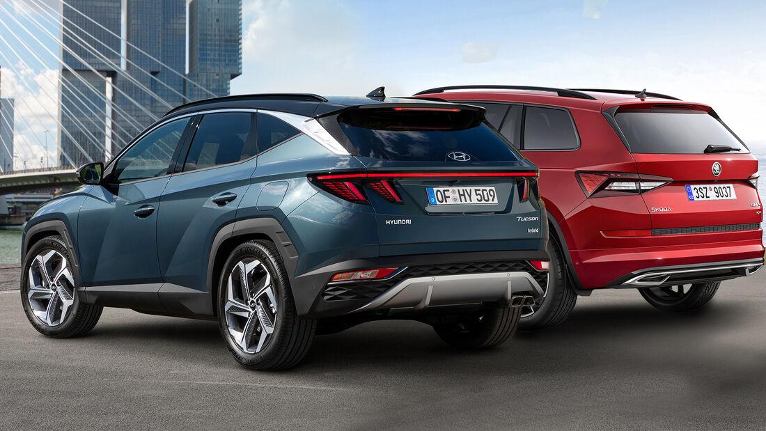 Hyundai Tucson (2020) Kaltvergleich Skoda Kodiaq