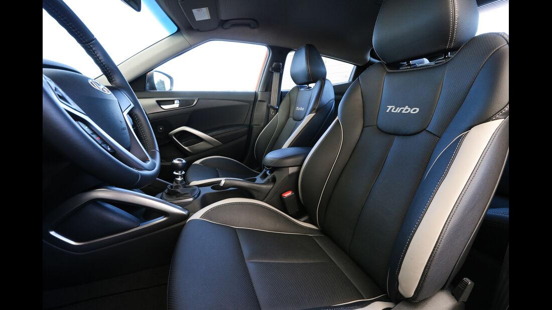 Hyundai Veloster 1.6 Turbo, Fahrersitz