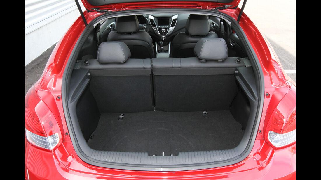 Hyundai Veloster Blue 1.6, Kofferraum
