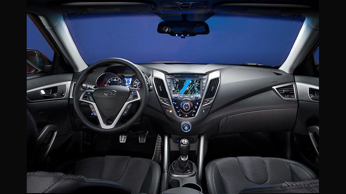 Hyundai Veloster, Cockpit, Innenraum
