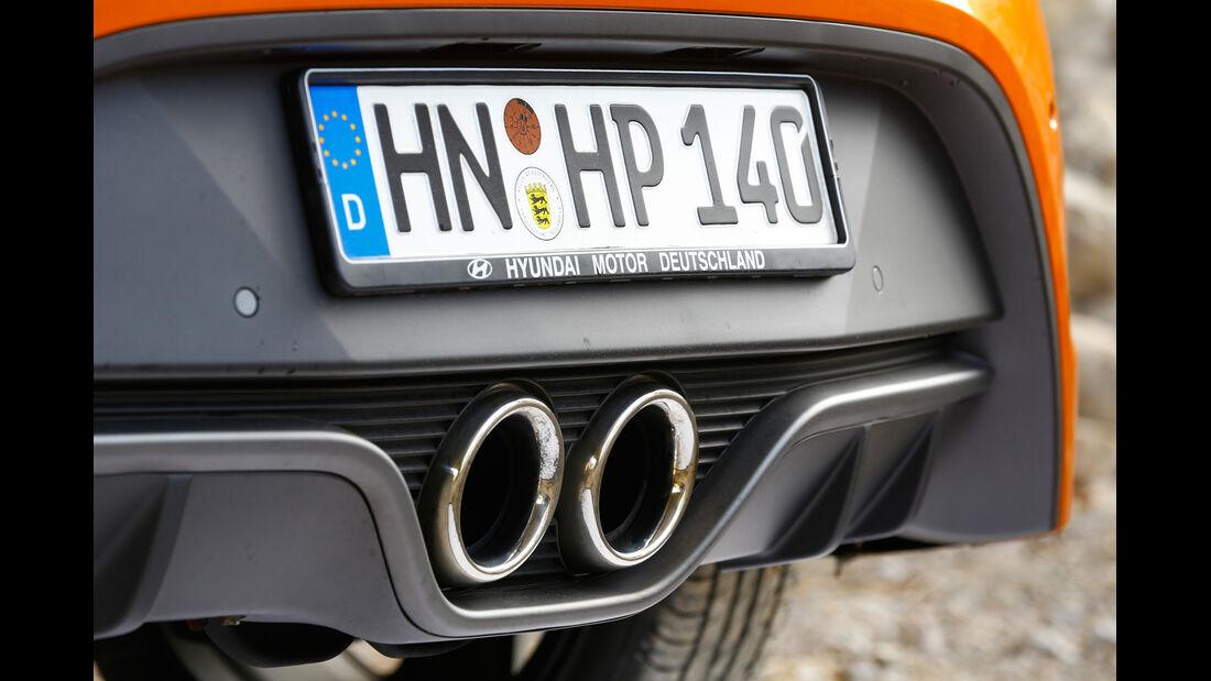 Hyundai Veloster Turbo, Endrohr, Auspuff