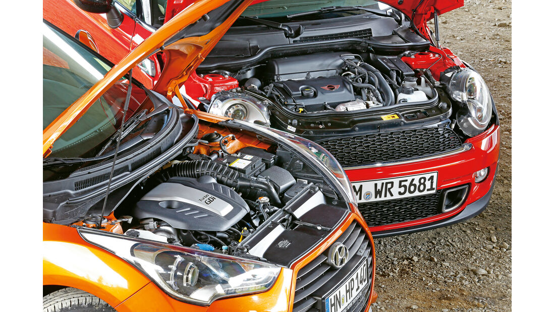 Hyundai Veloster Turbo, Mini Cooper S Clubman, Motoren