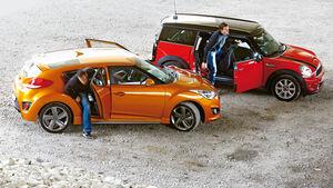 Hyundai Veloster Turbo, Mini Cooper S Clubman, Seitenansicht