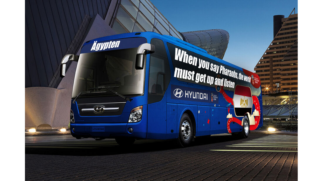 Hyundai WM-Busse Slogan Ägypten