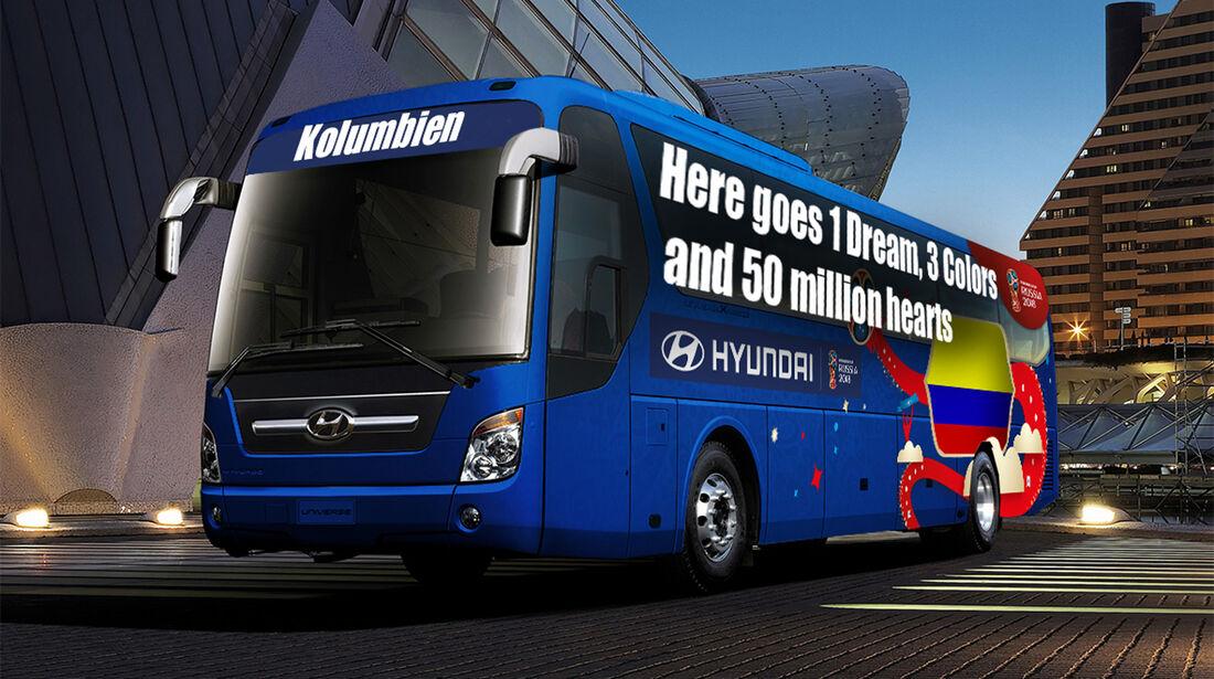 Hyundai WM-Busse Slogan Kolumbien