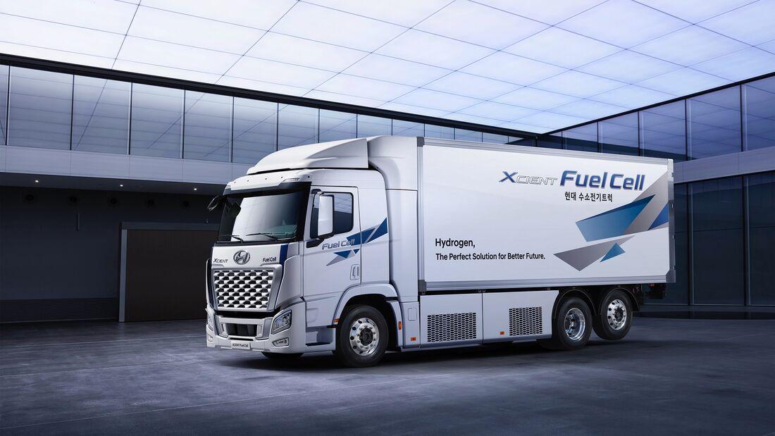 Hyundai Xcient Fuel Cell FCEV Brennstoffzellen Lkw