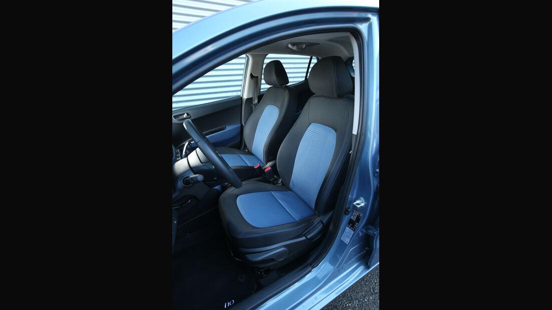 Hyundai i10 1.0, Fahrersitz