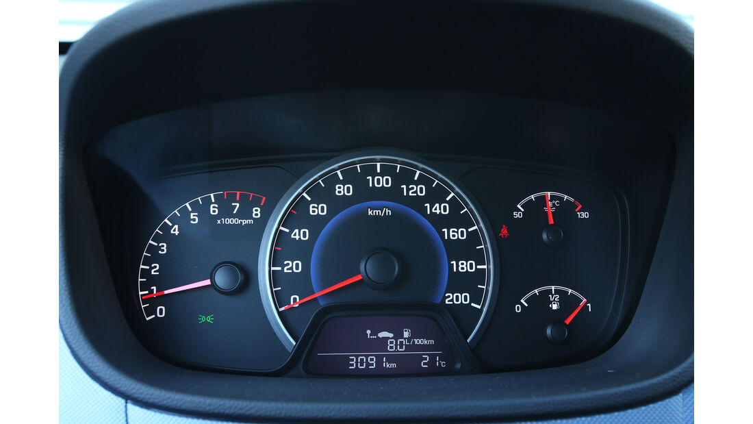 Hyundai i10 1.0, Rundinstrumente